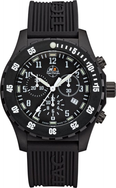 H3 Tactical Trooper Carbon Cronograph H3 Uhr White H3.3322.799.4.3