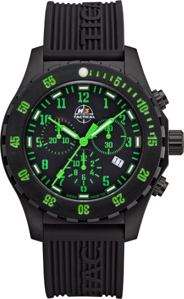 H3 Tactical Trooper Carbon Cronograph H3 Uhr Green H3.3322.797.3.3