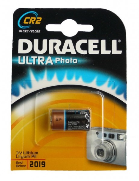 Duracell Lithiumbatterie CR2