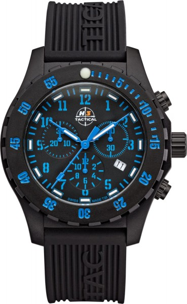 H3 TACTICAL Trooper Carbon Chronograph H3 Uhr Blue H3.3322.796.1.3