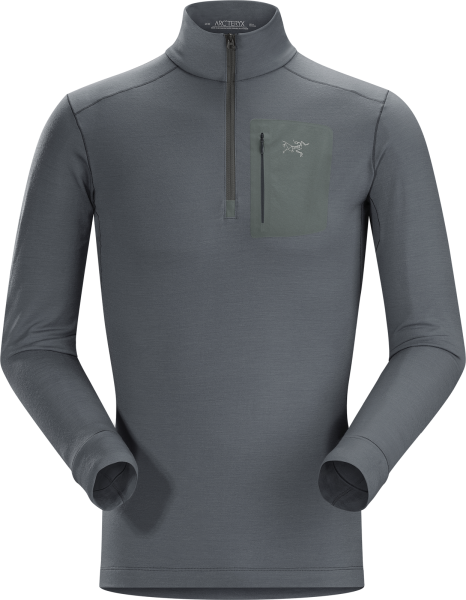 Arcteryx Satoro AR Zip Neck LS Men's Nautic Grey