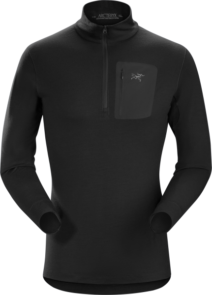 Arcteryx Satoro SV ZIP Neck LS Men's Black